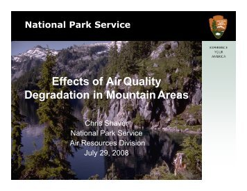 Effects of Air Quality Degradation in Mountain Areas