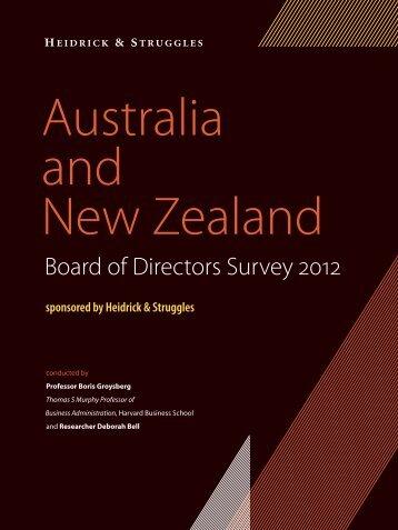 Australia and New Zealand Board of Directors Survey 2012