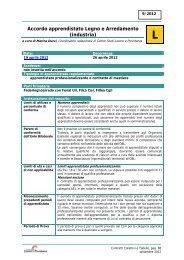Accordo apprendistato Legno e Arredamento - Centro Studi Lavoro ...
