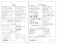 Calculus Cheat Sheet Pauls Online Math Notes Functions of several variables (graphing, limits, calculus). calculus cheat sheet pauls online