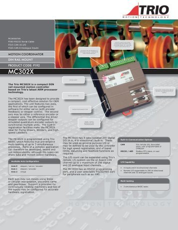 MC302X data sheet.indd - Trio Motion Technology