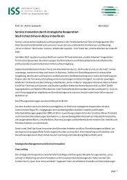 Service Innovation durch strategische Kooperation Shell richtet ...