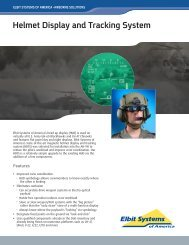 Helmet Display and Tracking System - Elbit Systems of America