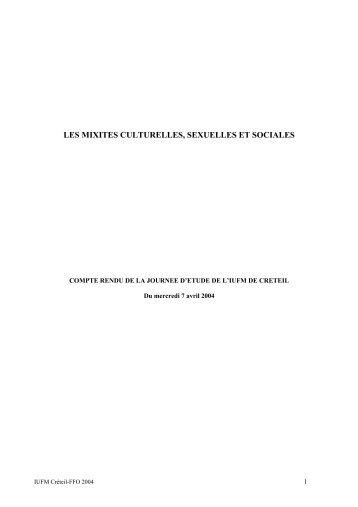 compte-rendu - IUFM de l'Académie de Créteil