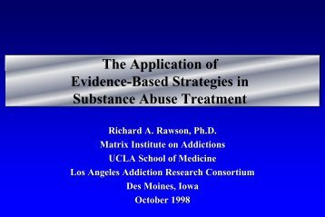 Treatments - UCLA Integrated Substance Abuse Programs