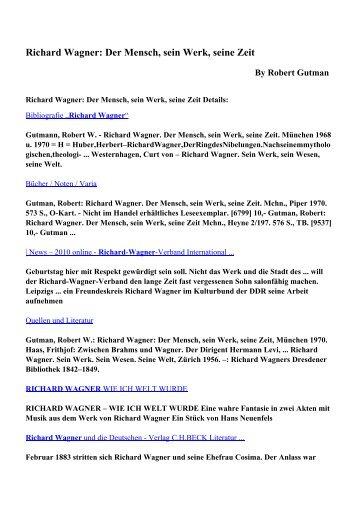 Richard Wagner: Der Mensch, sein Werk, seine Zeit pdf ebooks free ...