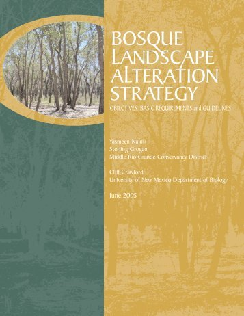 Bosque Landscape Alteration Strategy - Utton Transboundary ...
