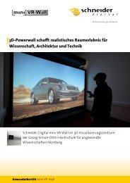 3D-Powerwall schafft realistisches Raumerlebnis für ... - mini VR-Wall