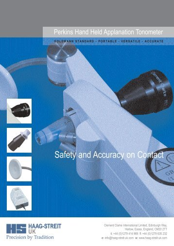 Safety and Accuracy on Contact - Haag-Streit USA