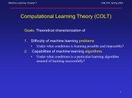 Machine Learning, Chapter 7 CSE 574, Spring 2004 - CEDAR