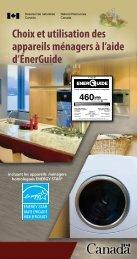 Choix et utilisation des appareils ménagers à l'aide d'ÉnerGuide