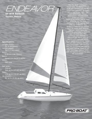 Endeavor Sailboat EP 2.4 RTR Manual - Pro Boat