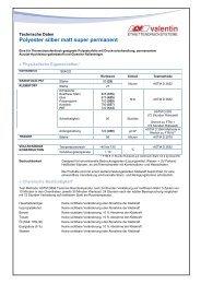 Polyester silber matt super permanent - Carl Valentin GmbH