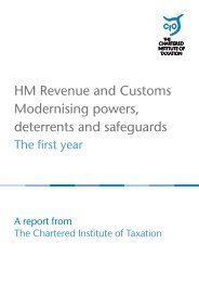 HMRC Modernising powers, Deterrents and Safeguards - Taxation