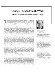 Change-Focused Youth Work