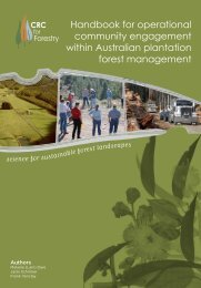 Handbook for operational community ... - CRC for Forestry