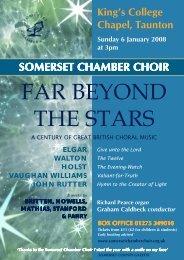 Box office 01275 349010 - Somerset Chamber Choir