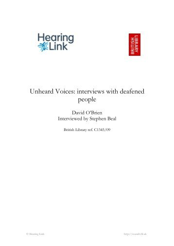 full transcript of the interview (PDF) - British Library - Sounds