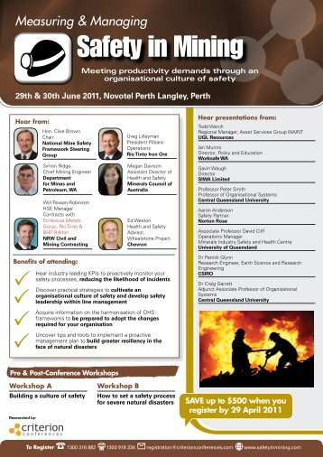 Safety in Mining - The ASIA Miner