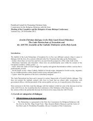 The Patriarchate within the context - Latin Patriarchate of Jerusalem