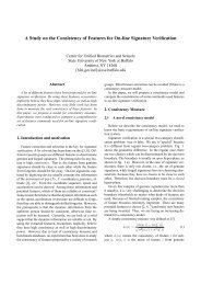 A Study on the Consistency of Features for On-line ... - CEDAR