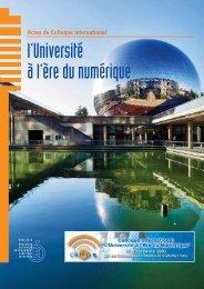 Actes CIUEN - Ministère de l'Éducation nationale