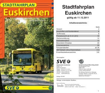Stadtfahrplan 2012 - Euskirchen - VRS
