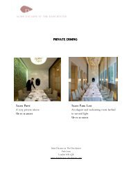 Private Dining _ Alain Ducasse at The Dorchester sept11