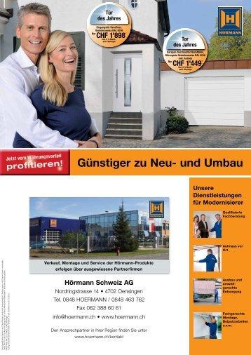 Günstiger zu Neu- und Umbau - Marcel Kummer AG