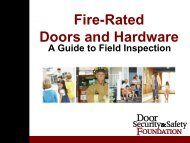 Fire-Rated Doors and Hardware