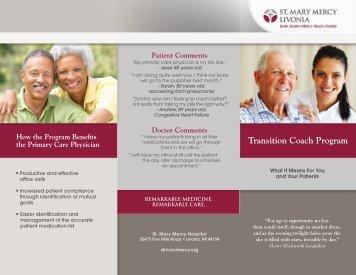 Transition Coach Program - Saint Joseph Mercy Health System