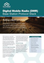Digital Mobile Radio (DMR) Base Station Protocol Stack - Etherstack