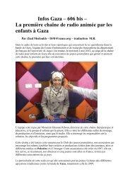 Infos Gaza – 606 bis – La première chaîne de radio animée par les ...