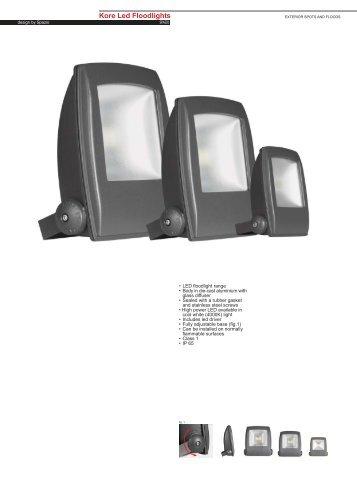 Kore LED Floodlights.pdf - Spazio Lighting