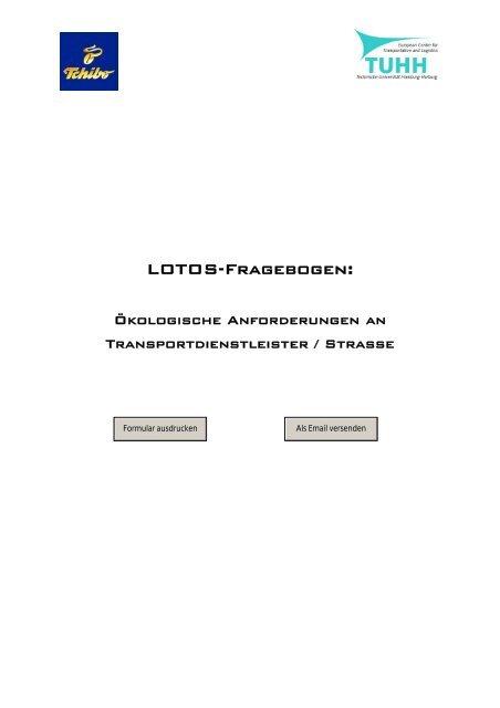LOTOS-Fragebogen: - Institut für Verkehrsplanung und Logistik der ...