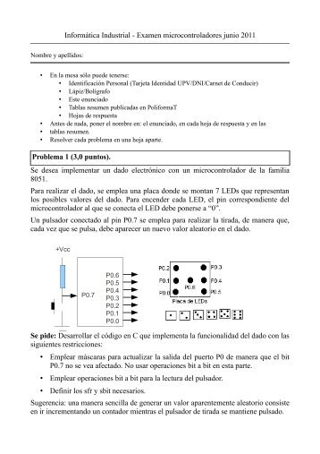 Informática Industrial - Examen ... - PoliformaT - UPV