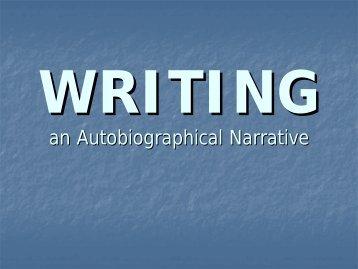 how to write a personal narrative - Salem City Schools