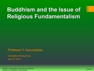 Buddhism and the Issue of Religious Fundamentalism - Centre of ...