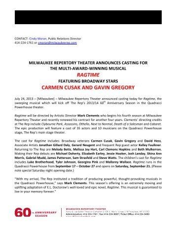 ragtime casting announced featuring broadway stars carmen cusak ...