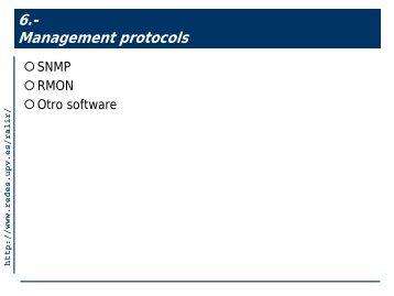 10 Protocolos de gestión: SNMP y RMON - PoliformaT - UPV