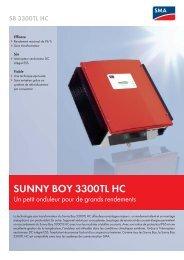 SUNNY BOY 3300TL HC - Un petit onduleur pour de ... - Biocenose