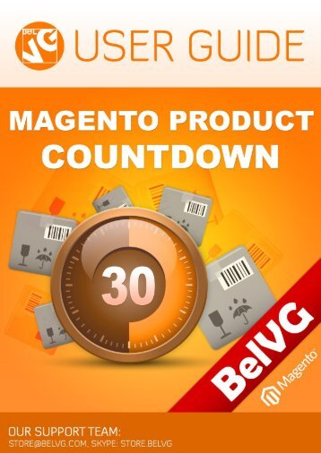 Product Countdown User guide - BelVG Magento Extensions Store