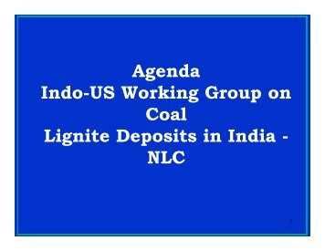 Neyveli Lignite Corporation: Problems and Needs - Office of Fossil ...