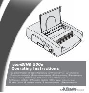 comBIND 500e Operating Instructions - Office-Profishop