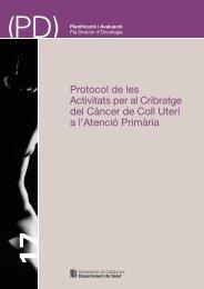 Protocol de les Activitats per al Cribratge del Càncer de Coll Uterí a l ...
