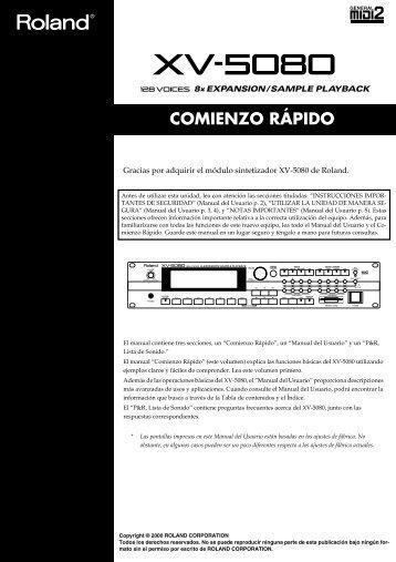 XV-5080 (Comienzo rapido) - Casaveerkamp.net