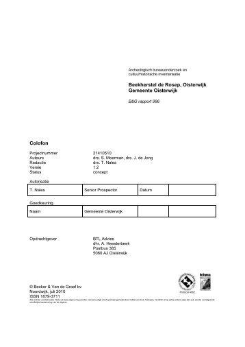 Archeologisch bureauonderzoek en cultuurhistorische inventarisatie ...