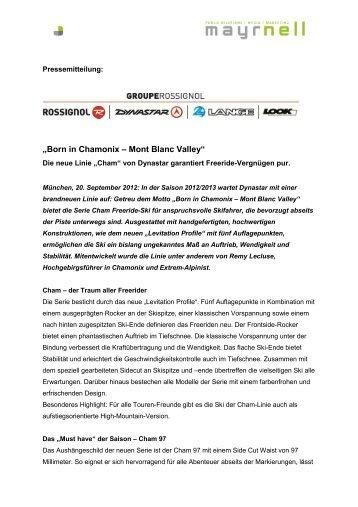 """Born in Chamonix – Mont Blanc Valley"""