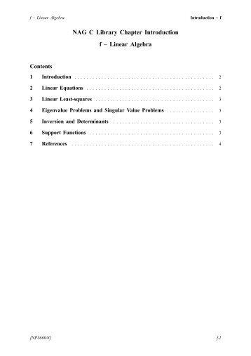 pdf version - Numerical Algorithms Group