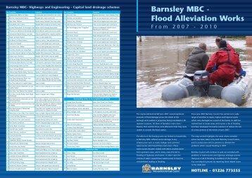 Flood alleviation leaflet - Barnsley Council Online